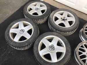 "4- 16"" 5X100 OEM VW Wheels"