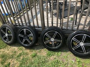 Studded winter tires on Alloy Rims