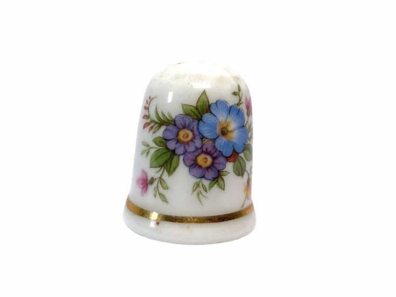 Bone China Made In England Thimble Flowers