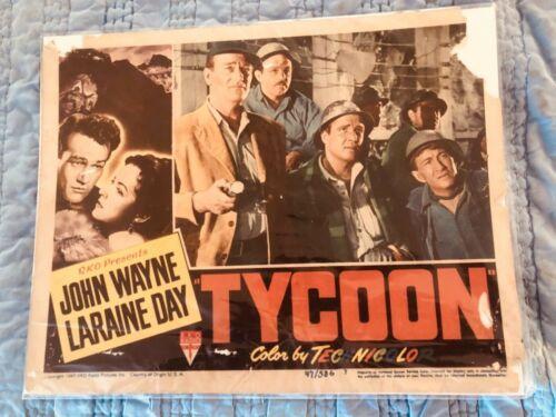 Tycoon lobby card John wayne