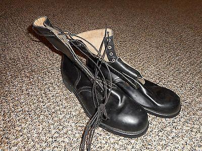 NOS unissued Vietnam war black leather boots 14W 1966