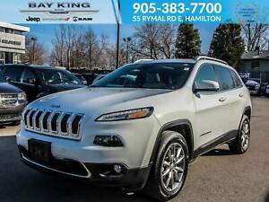2018 Jeep Cherokee 4X4, NAV, BLUETOOTH, SUNROOF, BLINDSPOT MONIT