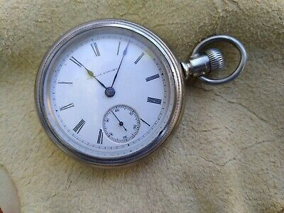 Super Clean!!! 1886 Illinois 18s 11j pocket watch Grade: 2 Model: 2 Key Wind