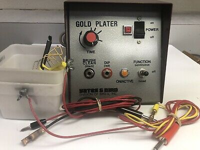 Gold Plating Machine Dental Lab Equipment Used Yates And Bird