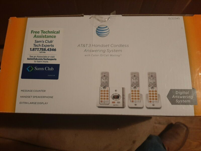 AT&T 3 Handset Cordless Answering System Caller ID EL52345 FREE TECHNICAL ASS.