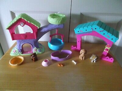 PUPPY IN MY POCKET ANIMAL TREE HOUSE & BARBIE FENCE + ACCESSORIES + PETS LOT