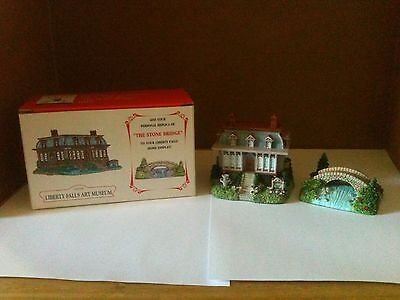 Liberty Falls Art Museum and The Stone Bridge Collectable Village Pieces