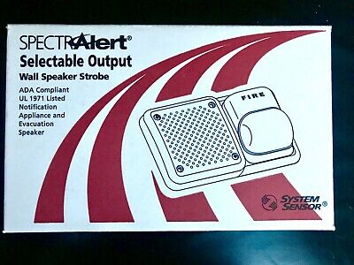 Sp2r1224mc System Sensor Spectralert Speakerstrobe Red 12-24v Wall Mount