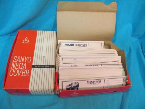 150+ SANYO NEGA COVER 35mm NEGATIVE ARCHIVAL SLEEVES SHEETS