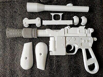Star Wars Han Solo Blaster DL-44 3D Printed Model Cosplay Prop Toy kit