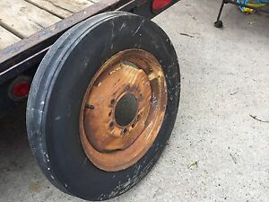 Antique Farm Equipment Wheel and Tire