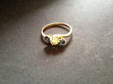 18ct 2 Tone Ladies Diamond and Sapphire Dress Ring Hornsby Hornsby Area Preview