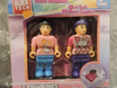 Block Tech Figurines Best Friends Girl and Boy, RMS 2017, Brand New & RARE