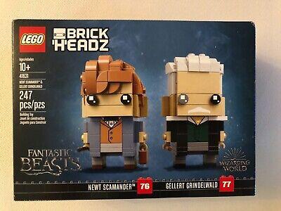 LEGO BrickHeadz Newt Scamander & Gellert Grindelwald (41631) - New Sealed