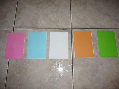 50 4x6 Self Adhesive Blank Stickers Shipping Labelsgreenwhitepinkorangeblue