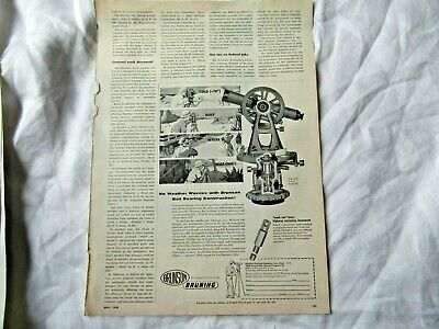 1958 Brunson Bruning Transit Model 50 Theodolite Surveying Instrument Print Ad