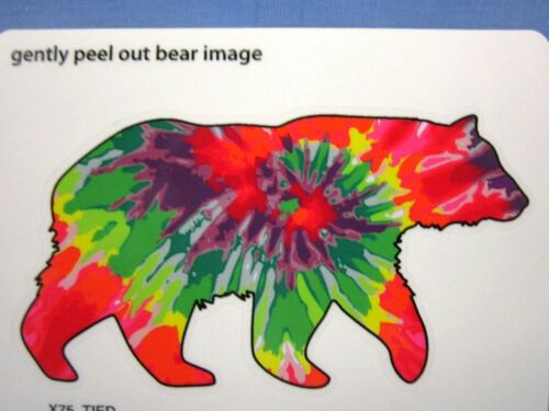 PSYCHEDELIC BEAR STICKER DECAL - A SOUVENIR GREAT SMOKY MOUNTAINS NATIONAL PARK