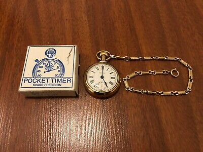 Vintage Westclox Swiss Precision Pocket Watch w/ Chain