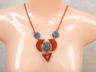 Rot,  Landschaft- Jaspis, und Blauquarz Halskette EDELSTEIN SCHMUCK KREATION  ()