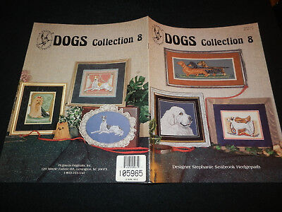 DOGS Collection 8 Counted x Stitch Pattern Greyhound Terrier Dachsunds Pyrenees