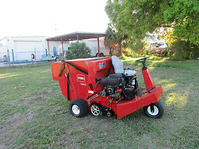 Toro 4800 Lawn Turf Sweeper Great Spring Fall Cleanups 101 Hrs Runs Good