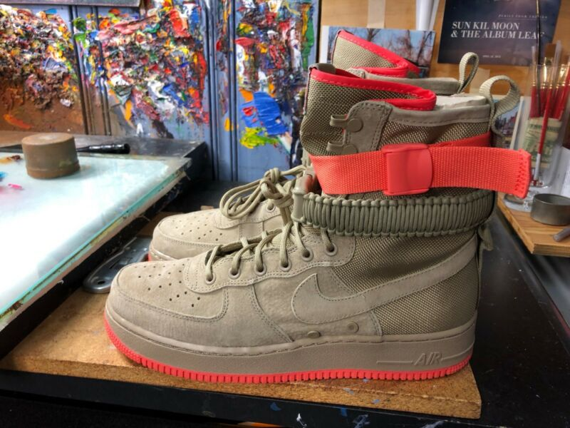 best sneakers c6ec4 23ff8 Nike SF AF1 Khaki/Rush Coral Special Field Air Force Size US 11.5 Men 864024