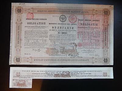 Moskau-Smolensk-Eisenbahn-Gesellschaft , 5 % Obligation über 200 preuss. Thaler