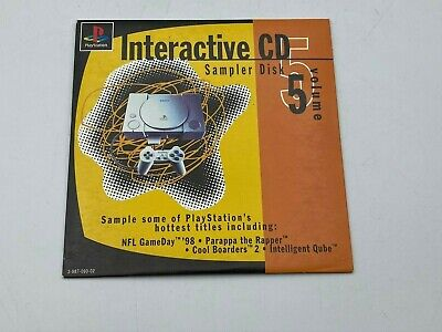 Interactive CD Sampler Disk Volume 5 Sony PlayStation 1 PS1 Disc Case Tested