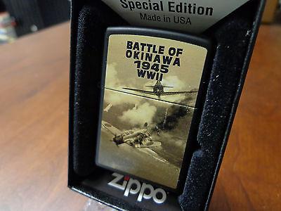 BATTLE OF OKINAWA USA JAPAN PLANES 1945 WWII ZIPPO LIGHTER MINT IN BOX