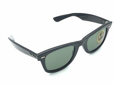 Ray-Ban B&L WAYFARER L2009 Square Black Sunglasses G-15 Lens Vintage USA NOS