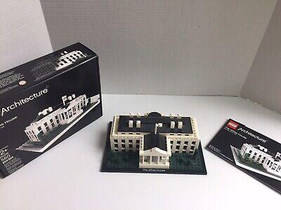 LEGO ARCHITECTURE 21006 WHITE HOUSE 560 pcs 100% COMPLETE w/ BOX & INSTRUCTIONS