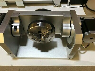Cnc Dividing Head Router Rotary Axis 4th A Axis 3 Jaw 100mm Chuck Self-centering