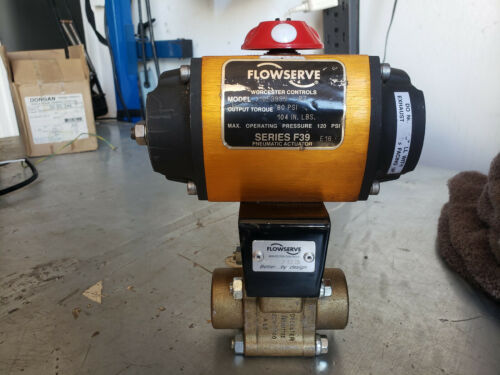 "Flowserve 10F39SN Pneumatic Actuator R7 1-1/4""  WORCESTER BALL VALVE R2CWP1000"