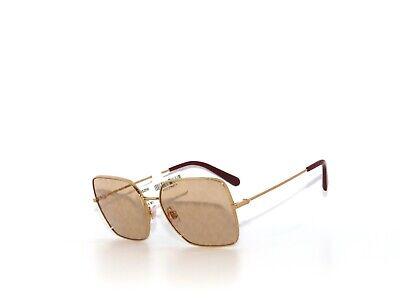 Dolce & Gabbana DG2242 02/02 57 Square Gold DG Logo Sunglasses 2242