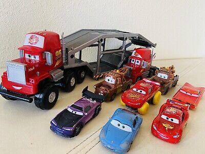 Disney Pixar Cars LOT Diecast /Plastic Large Mack The Truck Mater McQueen & More