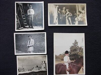 "OLD PHOTOS 4 B&W - 1 COLOUR 4 ½"" x 3"" x 5 ORIGINAL PHOTOS"