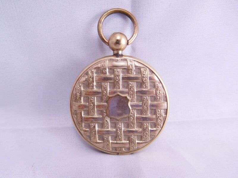 FANCY VICTORIAN GOLD FILLED POCKET WATCH FOB PENDANT