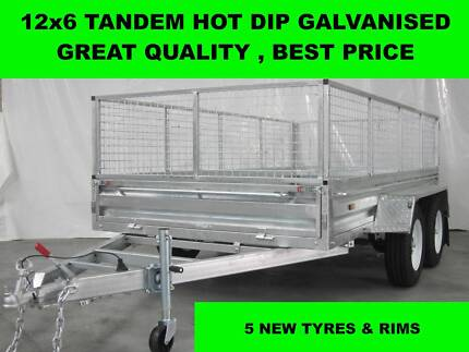 12X6 HOT DIP GALVANISED TRAILER 2000 KG GVM ON SALE