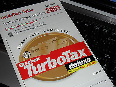 2001 Turbotax  Deluxe Turbo Tax New Original Sealed Cd   Free S H