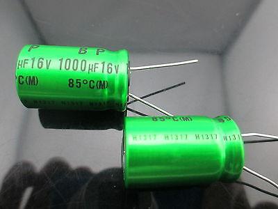 Japan 2pcs Nichicon Muse Es Bp 1000uf 16v 1000mfd Audio Capacitor Caps