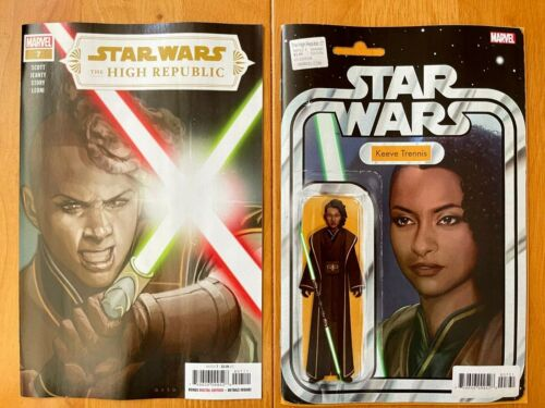 STAR WARS HIGH REPUBLIC 7 Main Cover + Christopher Action Variant Marvel NM