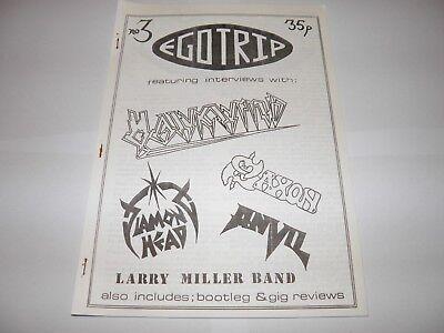 Ego Trip No 3 - Fanzine 1983 Hawkwind Saxon Anvil NWOBHM Larry Miller Diamond Hd
