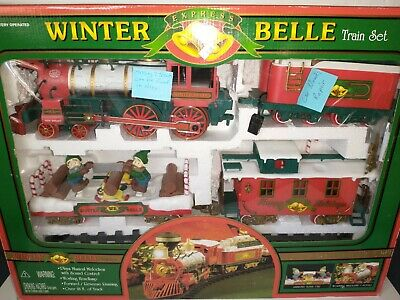 2003 New Bright Winter Belle Train Set Large Musical Animated Christmas