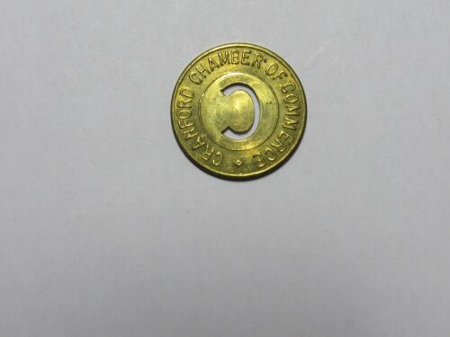 Old Parking Token - Cranford Chamber of Commerce - 1 Hour, Cut Out C