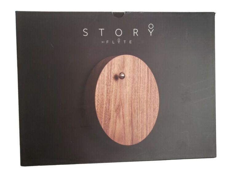 Open Box Story by Flyte Walnut Levitating Timepiece Clock -DS3476