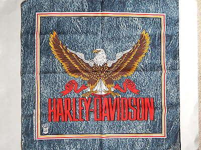 "22"" x 22"" Harley Davidson Motorcycles Eagle Denim Print Bandana"