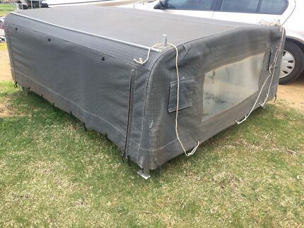Canvas canopy aluminum frame