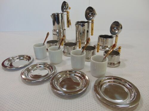 Vintage Italian Vev Inox 18/10 Stainless Kontessa Collection Coffee Set