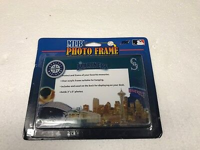 NEW AWESOME MLB SEATTLE MARINERS BASEBALL ACRYLIC 3X5 PICTURE -