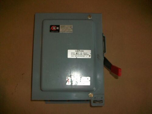 Cutler Hammer Safety Disconnect DH3610D   30AMP  600VAC  NON FUSED   NEW